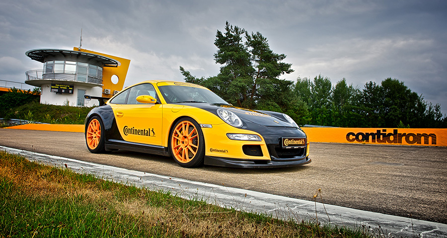 Testing at Continental's Contidrom Track Near Hannover, Germany