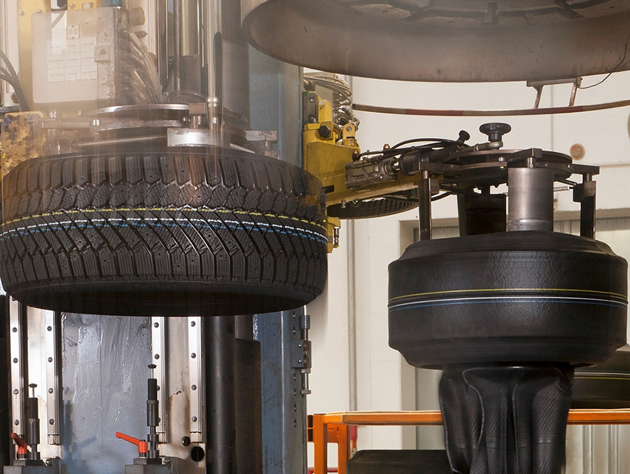 Continental Tire Manufacturing In Process