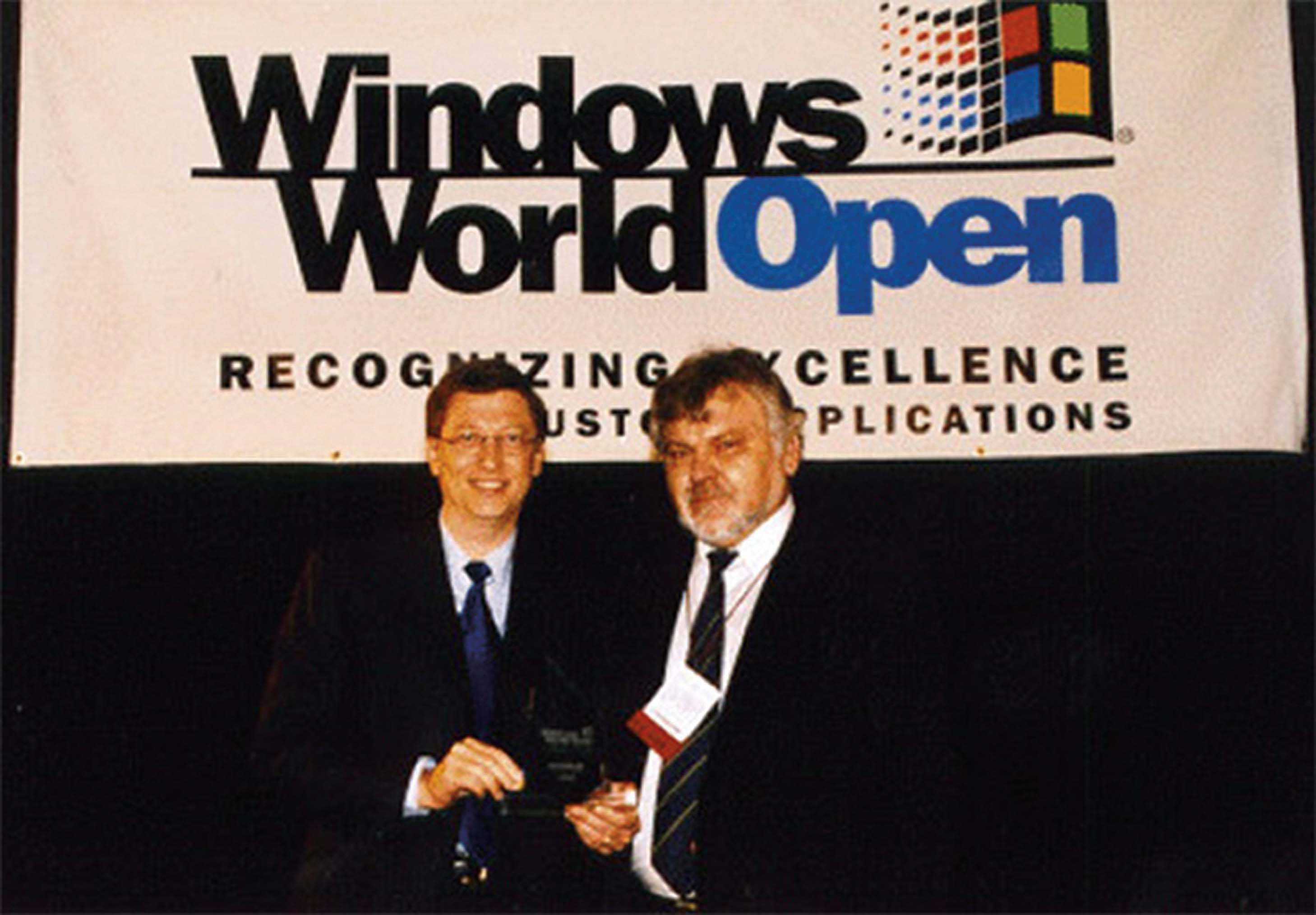 Bill Gates Presenting the Windows World Open Award